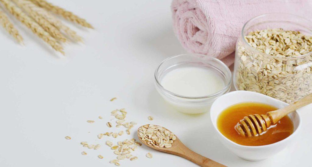 Remedios caseros hidratantes avena leche miel piel seca